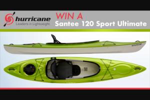 Paddlingcom – Hurricane Kayaks – Win the Hurricane Kayaks Santee 120 Sport Ultimate
