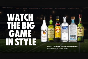 Pernod Ricard – Big Game – Win the following A 50-inch HDTV with a maximum retail value not to exceed $500.
