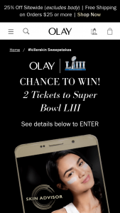 Procter & Gamble – Olay 28 Day Challenge Sweepstakes