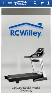 Rc Willey – January Social Media Giveaway Sweepstakes