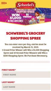 Schwebel's – Shopping Spree – Win Free Gift Card