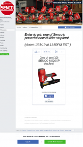 Senco – Staplers Sweepstakes