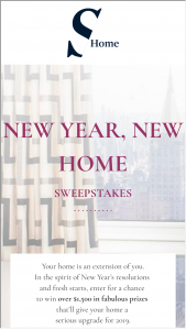 Sotheby's Home – New Year New Home Sweepstakes