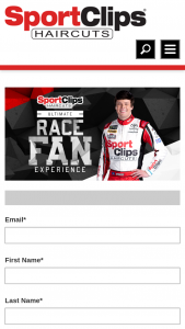 Sport Clips – Ultimate Race Fan Experience – Win any other form of compensation if actual
