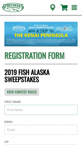 Sportsman's Warehouse – 2019 Fish Alaska Sweepstakes