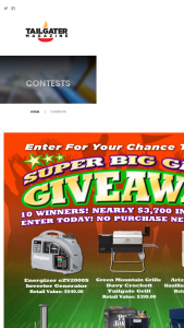 Tailgater Magazine – Super Big Game Giveaway Sweepstakes