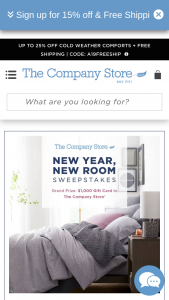 The Company Store – New Year New Room – Win (1) $1000 e-gift card to The Company Store