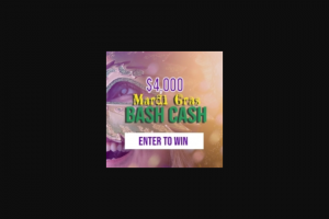 Triton Digital – $4000 Mardi Gras Bash Cash – Win of a cash award in the amount of four thousand US Dollars (US$4000).