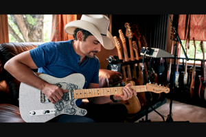Tunespeak – Signed Fender Brad Series Telecaster  Hand Drawing From Brad Paisley – Win One Signed Fender Brad Series Telecaster