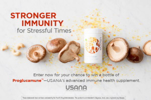 Usana – Proglucamune January 2019 – Win one bottle containing 56 tablets of USANA Proglucamune