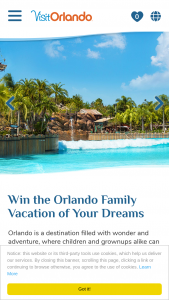 "Visit Orlando – Escape To Orlando – Win is one (1) Grand Prize available (one (1) consisting of one (1) 5-day / 4-night trip for the winner and up to three (3) guests to Orlando Florida (the ""Trip"")."