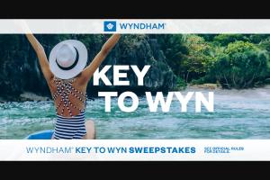 Wyndham – Key To Wyn Sweepstakes