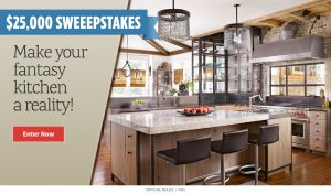 Meredith – All Recipes – Win a $25,000 check to make your fantasy kitchen a reality