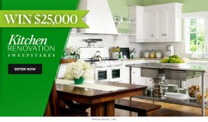 Meredith – Martha Stewart – Win a $25,000 check for Kitchen Renovation
