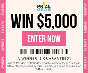 Prize Grab – Win a $5,000 Cash prize