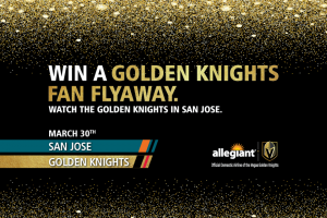 Allegiant – Vegas Golden Knights Road Trip – Win one carry-on bag and a pre-assigned seat at no charge