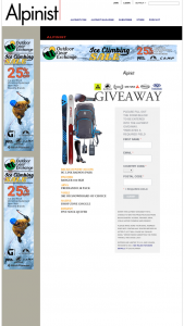 Alpinist – Alpinist Giveaway Sweepstakes