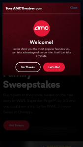 Amc – Fighting With My Family Amc Stubs – Win trip for winner and up to three (3) guests to Chicago Illinois Saturday November 23 2019 – Monday November 25 2019 to attend the WWE® Survivor Series® professional wrestling event