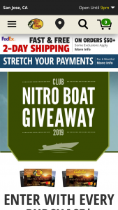 Bass Pro – Club 2019 Nitro Z21 Elite Boat Giveaway – Win NITRO Z21 Elite with a 250 L Pro XS Four Stroke w/Torque Master Prize package includes standard features and trailer
