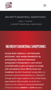 Big Red – Basketball Sweepstakes