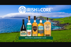 Castle Brands – Irish To The Core – Win GRAND PRIZE A $10000 check
