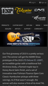 Esp Guitars – Ltd Deluxe Ec-1000t Guitar – Win LTD EC-1000T prototype guitar in Honey Burst Satin finish and a TKL Vectra hardshell modded guitar case