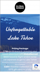 Globalnomad – Unforgettable Lake Tahoe Sweepstakes