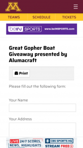 Gopher Sports – Great Gopher Boat Giveaway Presented By Alumacraft – Win a boat without the Customized Brand
