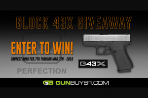 Gunbuyer – Glock 43 X Giveaway – Win one Glock 43 X (PX435SL201) or applicable state compliant substitute pistol will be awarded