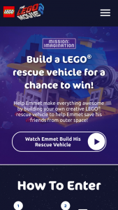 Lego Systems – The Lego Movie 2 'mission Imagination' Photo Contest – Win the following Four movie tickets
