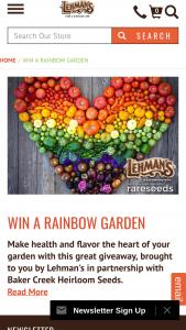 Lehman's – Rainbow Garden Sweepstakes