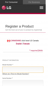 Lg Electronics – Product Registration – Win Period during the Sweepstakes Period