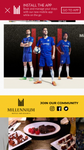 Millennium Hotels And Resorts – Chelsea Fc Giveaway Sweepstakes