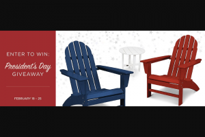 Polywood – President's Day Giveaway – Win 1 x Vineyard 3-Piece Adirondack Set (PWS399-1) in the color of their choice