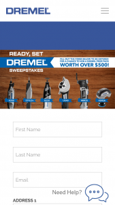 Robert Bosch Tool – Ready Set Dremel Sweepstakes
