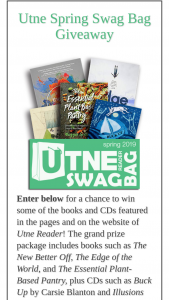 Utne – Spring Swag Bag Giveaway Sweepstakes