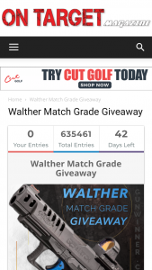 Walther – Match Grade Giveaway – Win – Walther Q5 Match Pistol