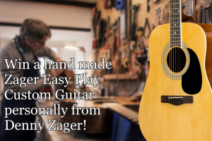 Zager – Guitar Giveaway – Win includes Easy Play Acoustic Guitar Package & Free Zager lifetime lesson library package