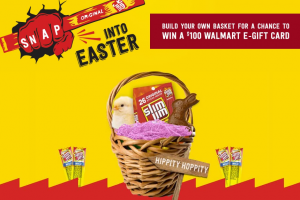 Conagra – Slim Jim Snap into Easter – Win 1 of 20 prize baskets valued at $145 each