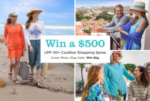 Coolibar – Win 1 of 5 prizes of an UPF 50+ Coolibar prize packs valued at $500 each