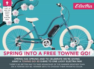Electra Bicycle – Win a Townie Go! 8D valued at $2,099