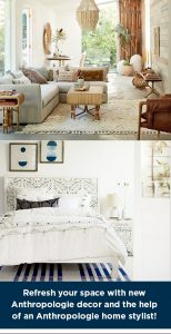 Elle Decor – Anthropologie Room Decor Refresh – Win a $3,000 Anthropologie gift card