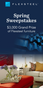 Flexsteel – Spring – Win a Flexsteel voucher valued at $3,000