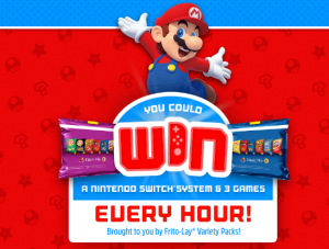 Frito-Lay – 2019 Frito-Lay Variety Packs Game – Win 1 of 1,332 Instant-Win prizes of a Nintendo Switch system & 3 Nintendo-published games valued at $480 each