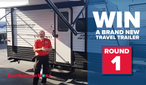 Giant Recreation World – Win a grand prize of a brand new Forest River Viking travel trailer OR 1 of 3 minor prizes of a $100 gift card each