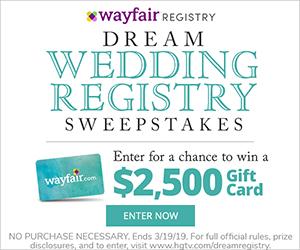 Hgtv Dream Wedding Registry Win A Grand Prize Of A
