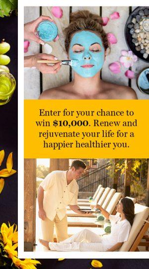 Hearst Magazine – Prevention – Wellness Spa – Win a $10,000 check