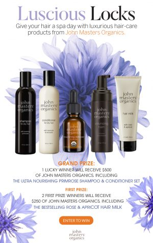 Interactive Wellness Group – Luscious Locks – Win a grand prize package of 16 products valued at $500 OR 1 of 2 minor prizes of 10 products each valued at $250 each