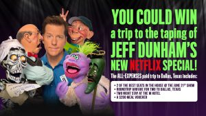 Jeef Dunham – Win a trip for 2 to Dallas valued at $3,500