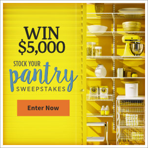 Meredith – All Recipes – Win $5,000 to stock your pantry